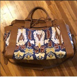 Cleobella Leather Weekender Overnight Travel Bag
